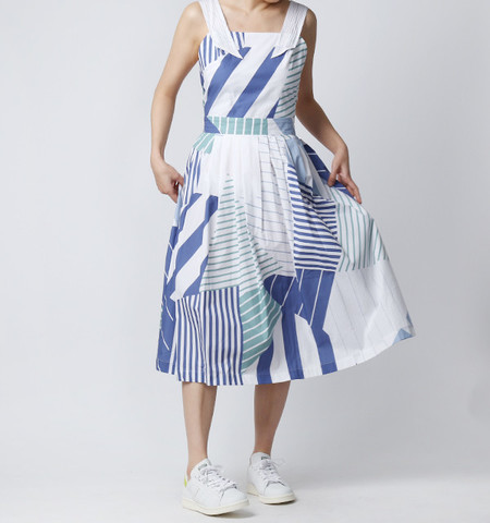 Kitsune Iris Dress - Navy Print