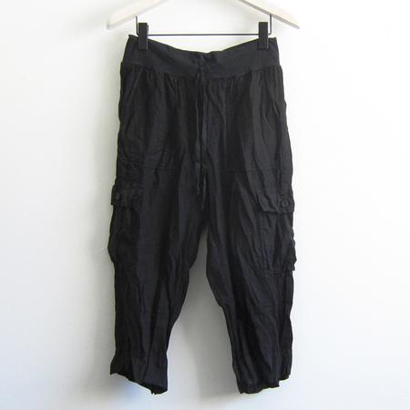 Flax Designs Urban Go cropped cargo pant - black