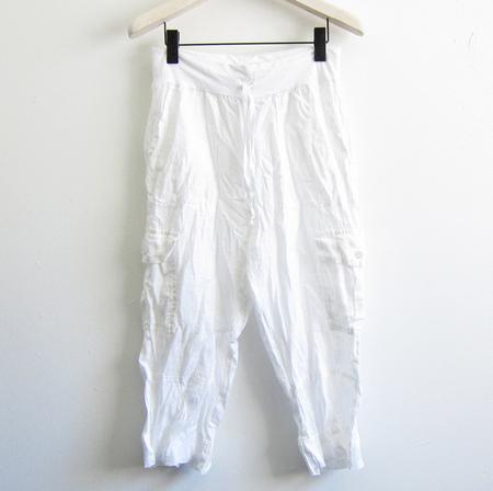 Flax Designs Urban Go cropped cargo pant - white