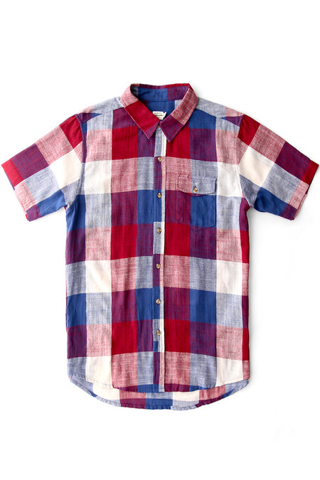 Bridge & Burn Thomas SHIRT - Red-Cobalt Plaid