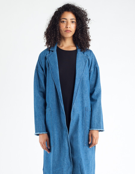 Minimum Majbrit Denim Jacket Dark Blue