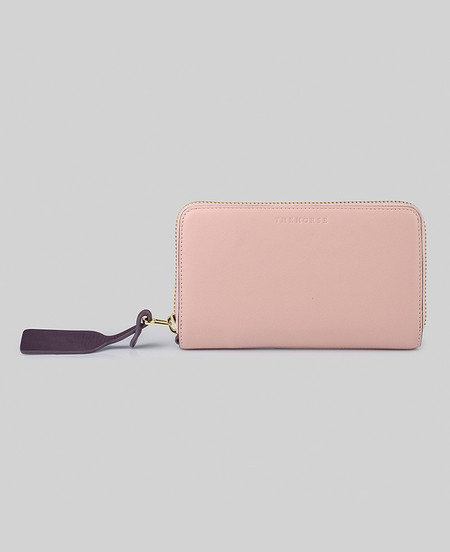 The Horse Block Wallet in Blush/Plum