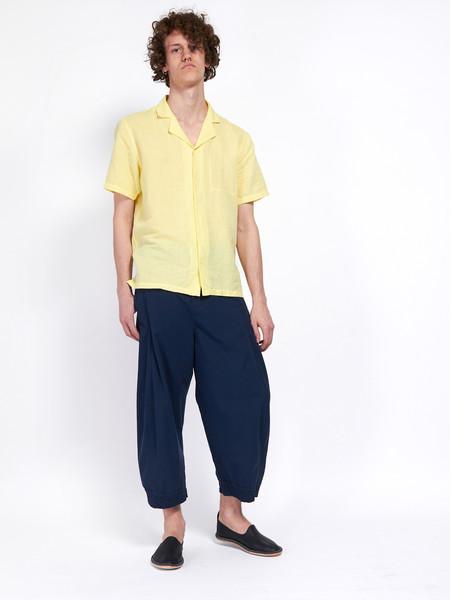 Folk Pop Piano Shirt Lemon Yellow