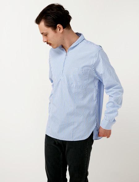 Our Legacy Shawl Zip Shirt Blue Stripe