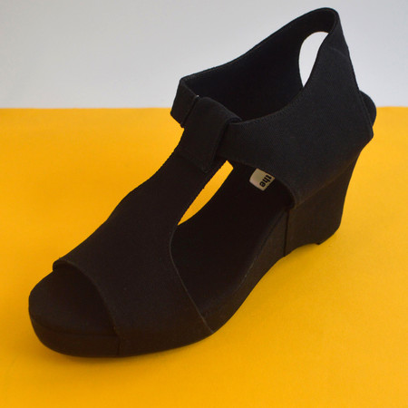 Slow and Steady Wins the Race Wedge Sandal in Black - Size 41