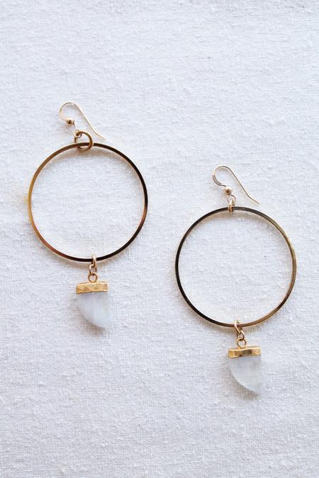 sheila b moonstone hoop earrings