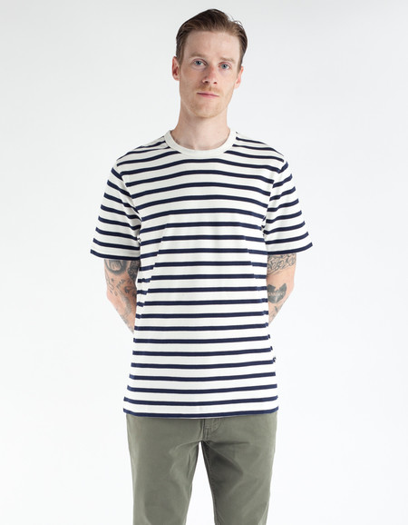 No Nationality Basic Stripe Tee Navy