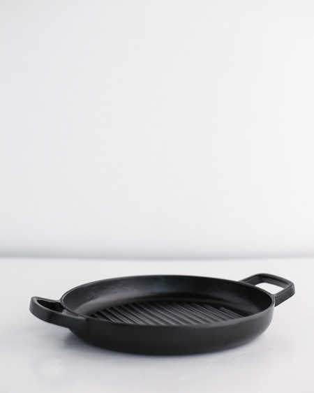 Crane Cookware Enameled Cast Iron Griddle Pan - Black