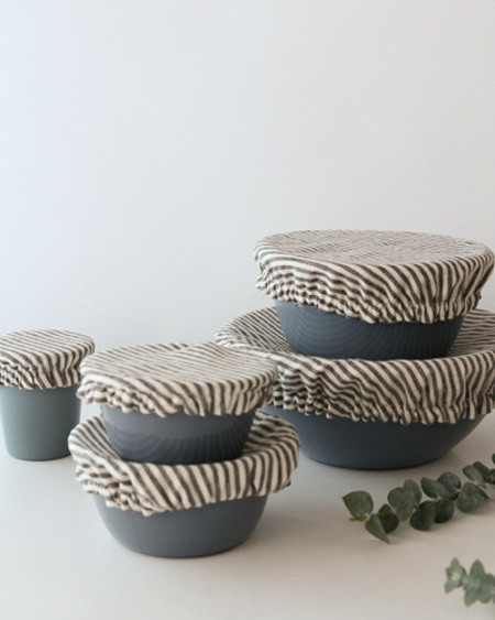 Ambatalia Linen Fitted Bowl Cover Set