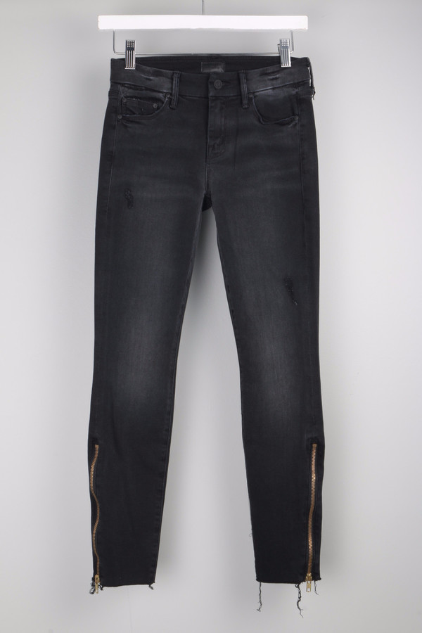 Mother Denim Looker Zip Fray