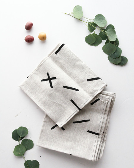 Caroline Zhurley Sticks Linen Napkins - Set of 4