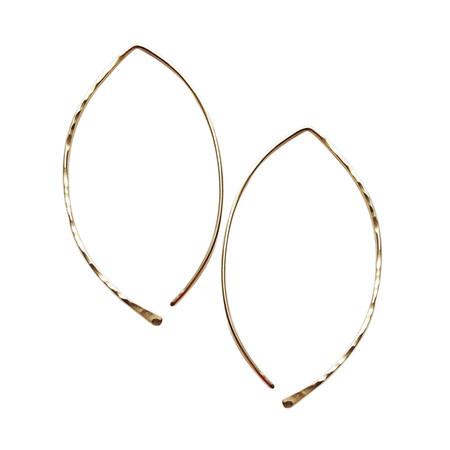 Strut Jewelry – Hammered Leaf Hoops