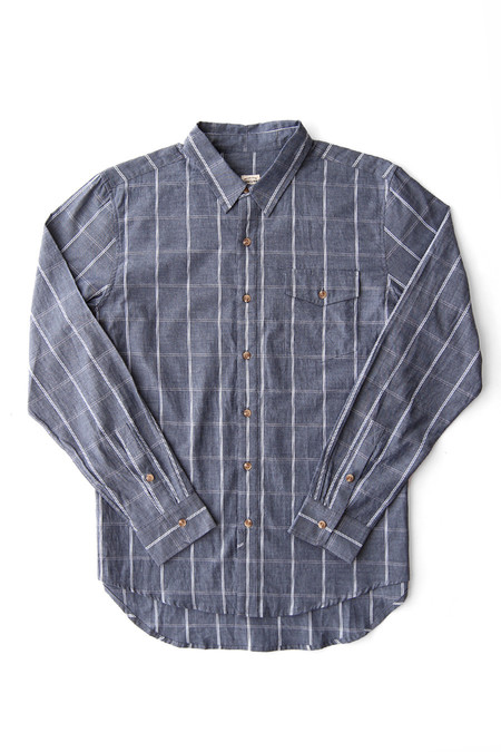 Bridge & Burn Clinton Navy Windowpane