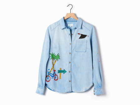 Mira Mikati Ice Cream Denim Shirt