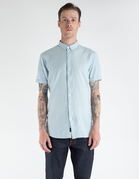 Minimum Ezra Short Sleeve Shirt Halogen Blue
