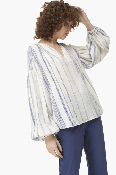 Closed Oversized Striped Blouse