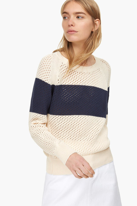 Closed Cotton Mesh Sweater