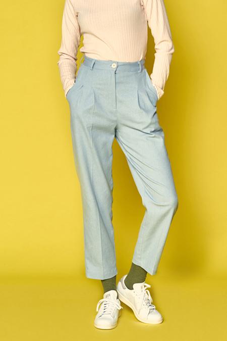 A.A High Waisted Bobby Pants - Blue