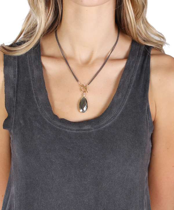 Bloom Pyrite Rolo Toggle Necklace
