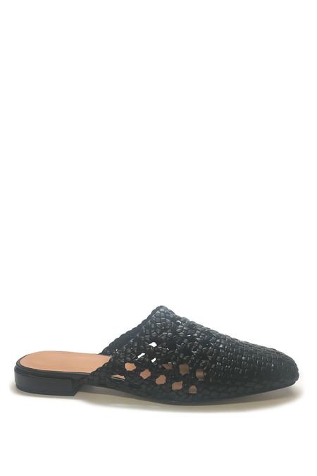 LOQ Leather Marti Slide - Black