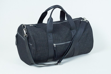 Clyde Duffel Bag in Black Denim