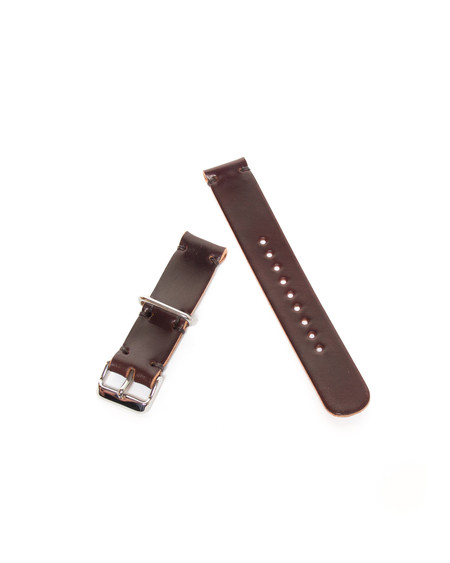 Wood&Faulk Famous #8 Cordovan Two-Piece Watch Strap