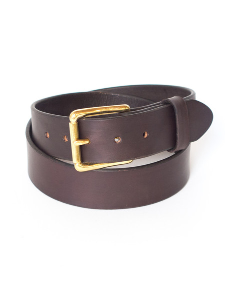 Wood&Faulk Dark Brown Martin Belt