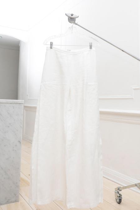Collina Strada Humpback Pant White Linen
