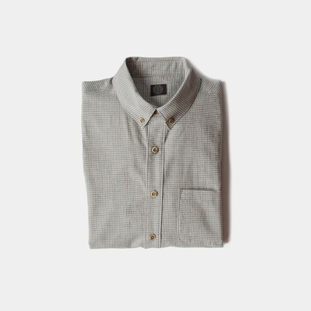 Wilson & Willy's Carver Shirt - Linen Check Gray