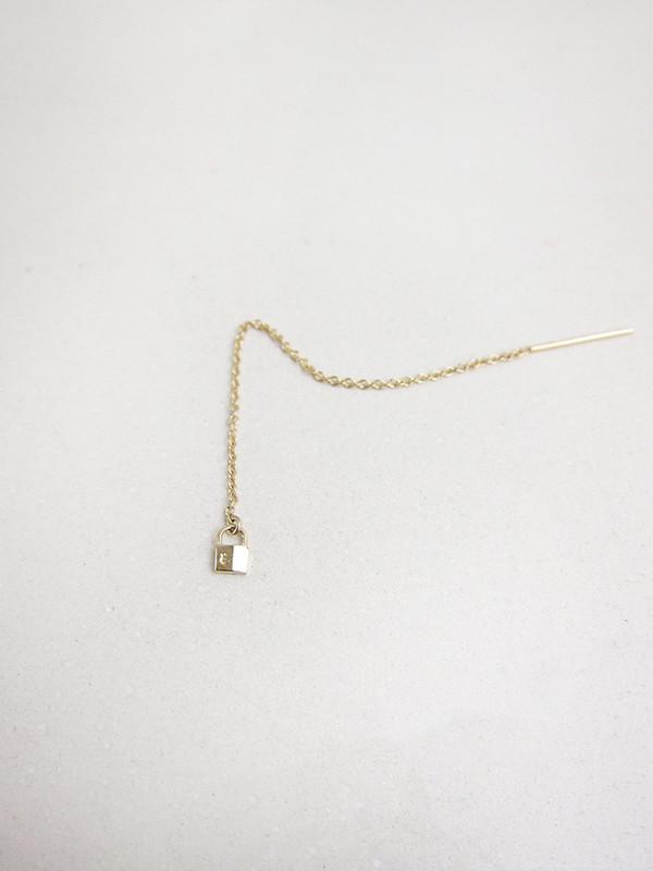 Lauren Klassen Tiny Lock Chain Earring