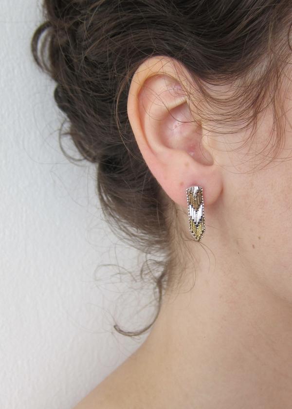 Flat Chevron Earrings
