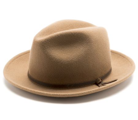 Unisex Yellow108 Luke Fedora in Camel