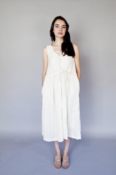 Vestige Mural Dress Cream