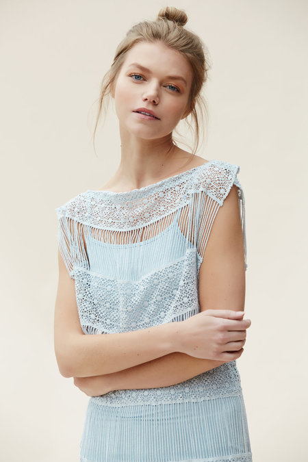 Callahan Crochet Fringe Dress