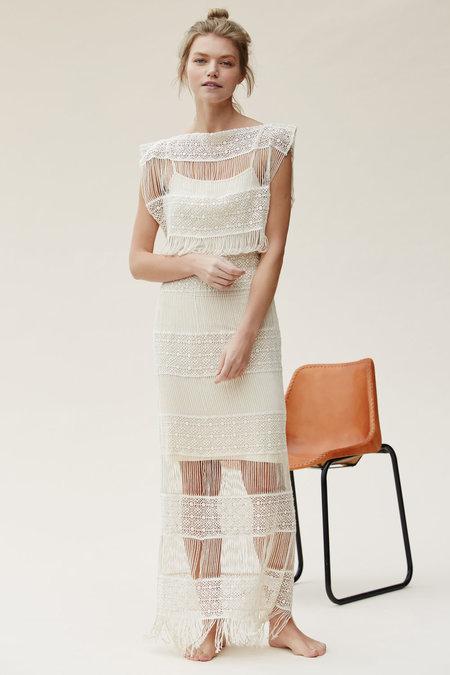 Callahan Crochet Maxi dress - Creme