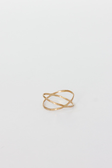 CLP  Gold filled Cross band ring