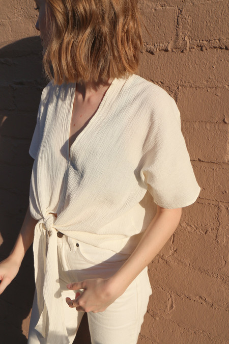 Hackwith Design House Cropped Tie Top
