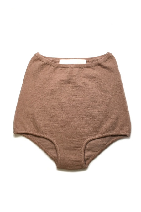 HESPERIOS Alpaca/Silk High Waisted Undies - Rosebud