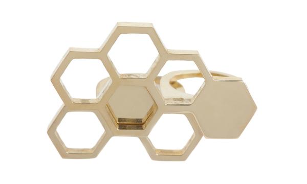 Shahla Karimi Interlocking Honeycomb Ring Set