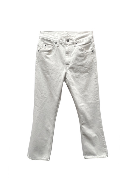 Levis Made & Crafted Levi's 517 Cropped Boot Cut - White Denim