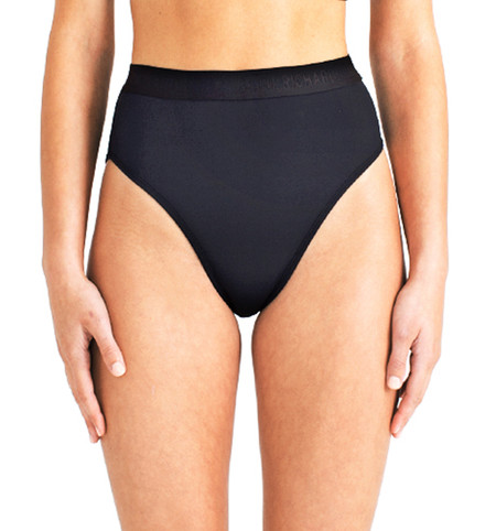 Beth Richards Kim Bottom - Black High Waist Bottom With Branded Elastic