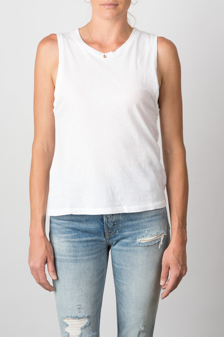 Lacausa Tiny Muscle Tee In White
