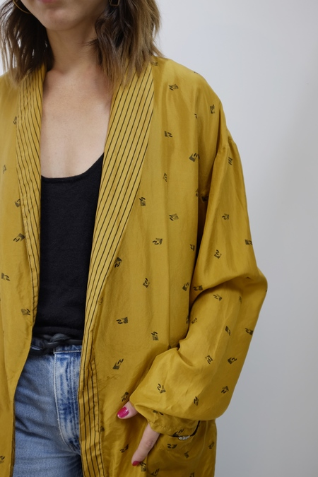 Hey Jude Vintage Gold Silk Jacket