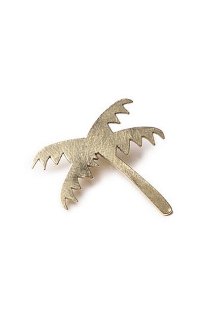 CASA MALASPINA Brass Palm Tree Pin