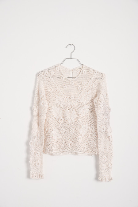 Ulla Johnson Lilia Top in Ivory