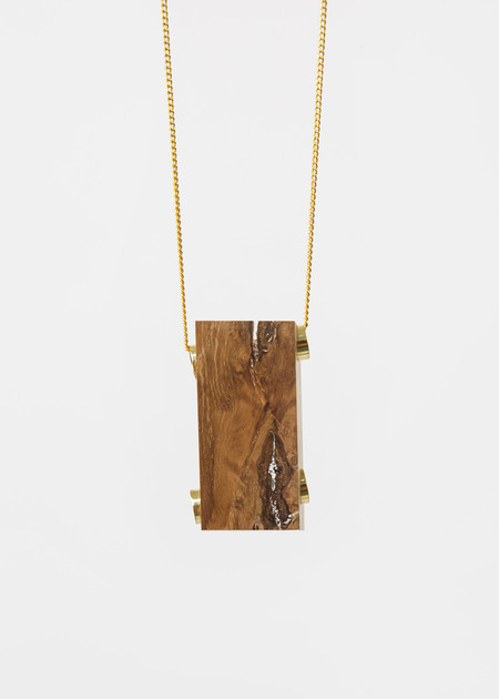 Stable State Oak Maderite Wood Necklace
