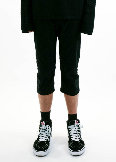 Helmut Lang Black Taped Cropped Pant