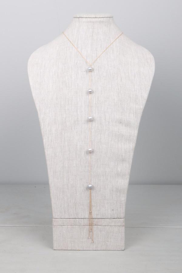 Dafne Pearl Lariat Necklace