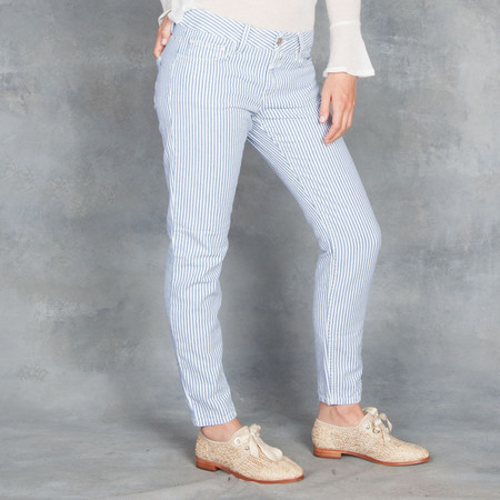 Closed Railroad Striped Baker Jeans
