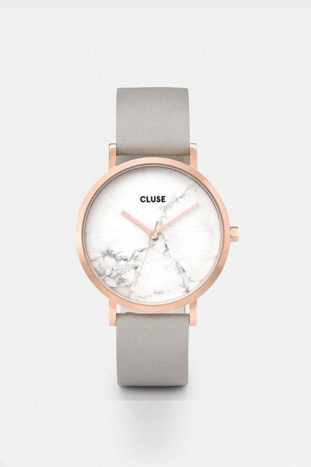 CLUSE WATCH La Boheme Rose Gold Marble White/Grey